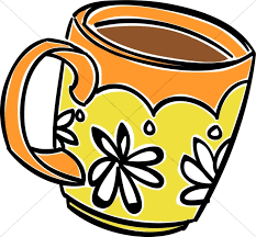 mug clipart. fun daisy coffee mug clipart d