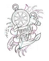 Script Designs Family First Tattoo Design By Lazaro J Rivera Sketch Anchor
