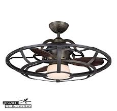 enclosed ceiling fan with light