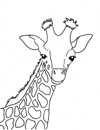 Giraffe Coloring Pages For Kids Printable Coloring Page For Kids