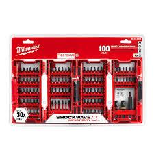 dewalt drill bit set 100 piece. milwaukee shockwave impact duty driver bit set (100-piece) dewalt drill 100 piece