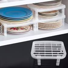 1 Pcs Kitchen Dish Rack Plate Draining Rack Kitchen Sink Dish Rack Insert Countertop Bathroom Storage Organizer Tray
