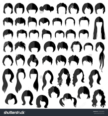 Women Hair Style Names woman man hair vector hairstyle silhouette 253353475 larastock 2092 by wearticles.com
