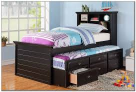 twin trundle bed with storage  beds  home design ideas