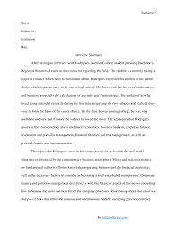 Interview Summary Template Interview Summary Examples PDF 3