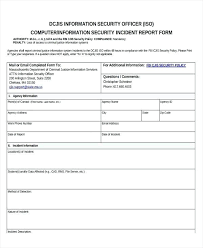 System Incident Report Template Security Incident Report