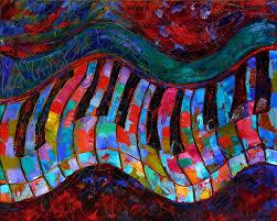 abstract piano art painting keyboard paintings by fine artist debra hurd
