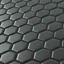 black mosaic tiles new hexagon x porcelain mosaic tile in antique black black and white mosaic