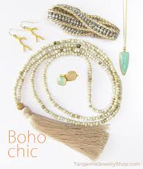 Get this #BohoChic look at http://www.tangerinejewelryshop.com/