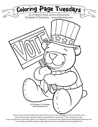 2018 election coloring book dulemba coloring page tuesday get out the vote voting vote of 2018