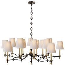 thomas o brien chandler large chandelier black and brass