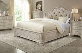 Sleigh Bedroom Furniture Sets Furniture Renaissance 4 Piece Upholstered Sleigh Bedroom Set In