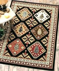 rustic country cottage hand woven needlepoint area rug multi style lodge rugs