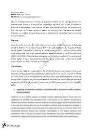 policy memo essay on cannabis regulation ecos economics of  policy memo essay on cannabis regulation