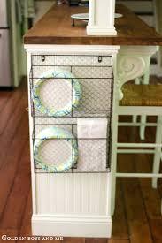 diy kitchen storage ideas. wire baskets. diy kitchen storage ideas