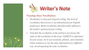 putting it all together part ppt video online  writer s note varying your vocabulary