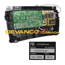 devanco get the right garage door opener and parts liftmaster circuit board assembly for dual capacitor models