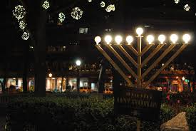 hanukkah celebration on boathouse row