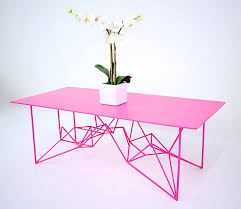 Midcentury-Modern-Furniture-Yoshi + Pink + Steel-Coffee Table-Moderncre8ve