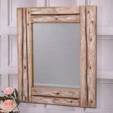 large rectangular mirror driftwood