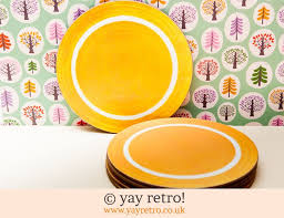 orange melamine round table mats 12 00