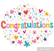 Congratulations Poster Congratulations Typography Lettering Decorative Text Card Design Poster