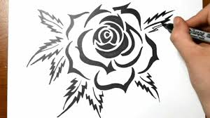How To Draw A Tribal Rose Tattoo Design