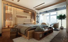 contemporary bedroom lighting. This Modern Bedroom Concept Design Includes An Artistic Wood Accent Wall As A Headboard Behind The Contemporary Lighting E