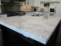 white marble countertops kitchen island