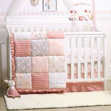 baby girl crib bedding forest animal theme woodland whimsy 4 piece set by the peanut shell com