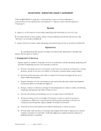 Business Agency Agreement Template Advertising And Marketing Agency Contract Simple Strat Office 5