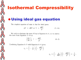 compressibility definition. 25 isothermal compressibility  using ideal gas equation definition d