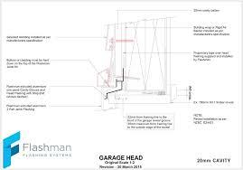 garage door detail garage door head detail garage door cad details nz