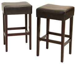 gdf studio duff backless leather counter stools set of 2 transitional bar stools and counter stools by gdfstudio