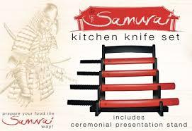 cool samurai kitchen knife set tool 2
