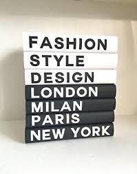 Designer Books Decor Decorative Books Fashion Books Fashion Design New York London 24
