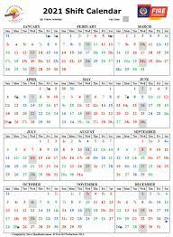 Firefighters Shift Calendar 2020 2021 Calendar New Zealand Firefighters Welfare Society