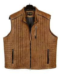 scully leather puffer vest t