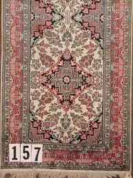 rk06 0157 indo persian faux silk runner 3 1 x 10 0 contemporary fine condition