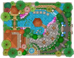backyard landscape design plans. Landscape And Garden Design Plan Example Software Draw Deck Patio Throughout Backyard Planning Plans D