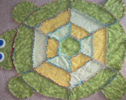 Made To Order Britney or Benji The Butterfly Rag Quilt & Made To Order - Tillie or Teddy Turtle Rag Quilt - Small Adamdwight.com