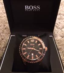 """men s hugo boss watch 1512886 watch shop comâ""""¢ this versatile rose gold plated watch compliments all your outfits whether it be formal or everyday wear its comfy sporty strap lends itself to an every"""