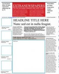 Newspaper Book Report Template Best Photos Of Middle School Newspaper Template Newspaper