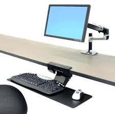 desk height adjule keyboard tray under desk keyboard stand under desk ergotron neo flex underdesk