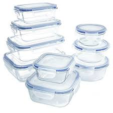 glass food storage container set bpa free use for home kitchen and restaurant