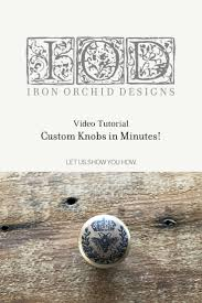Create Your Own Iron On Design How To Make Custom Knobs In Minutes Quick And Easy Diy