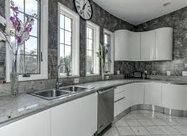 White Granite Backsplash Outstanding White Counter Modern Kitchen