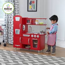 Kid Craft Retro Kitchen Kidkraft Vintage Wooden Play Kitchen Red Walmartcom