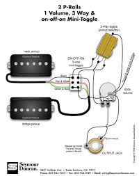 guitar wiring diagram 2 humbuckers 3 way toggle switch 1 volume 2 seymour duncan p rails wiring diagram 2 p rails 1 vol