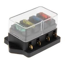 4 way circuit standard blade fuse box block holder 12v 24v fuse old fuse box replacement parts at Fuse Box Replacement Parts
